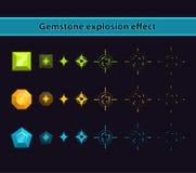 Efecto de la explosión de la piedra preciosa ilustración del vector