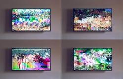 Efecto de la interferencia sobre la TV imagenes de archivo