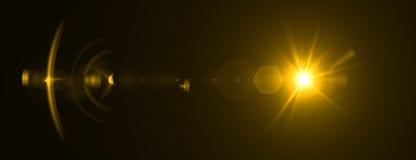 Efecto de la llamarada de la lente representación 3d Fotografía de archivo libre de regalías