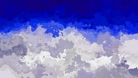 Efecto de la mancha de la acuarela - azul de cielo y color blanco gris de las nubes ilustración del vector