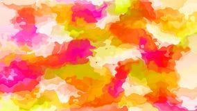 Efecto de la mancha de la acuarela - espectro de color de neón - amarillo anaranjado rosado magenta libre illustration