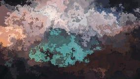 Efecto de la mancha de la acuarela - marrón oscuro y color de la turquesa ilustración del vector