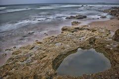 Efecto de la marea inferior Foto de archivo