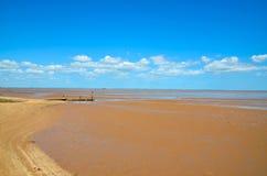 Efecto de la marea inferior Imagen de archivo libre de regalías