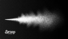 Efecto de la niebla del espray de agua ilustración del vector