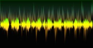 Efecto de la onda acústica Imagen de archivo