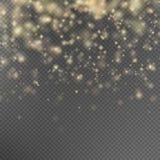 Efecto de las partículas del brillo del oro EPS 10 Imágenes de archivo libres de regalías