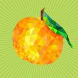 Efecto de StarBurst, triángulos del mandarín stock de ilustración
