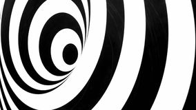 Efecto de túnel blanco y negro que da vuelta a la izquierda libre illustration