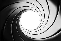 Efecto del barril de arma - un tema clásico de James Bond 007 Imagen de archivo