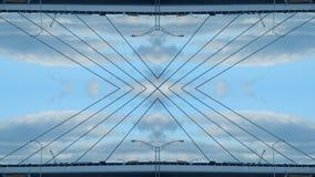 Efecto del espejo de un puente ilustración del vector