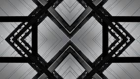 Efecto del espejo de una estructura de acero del puente fotos de archivo libres de regalías