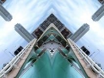Efecto del espejo entre dos puentes libre illustration