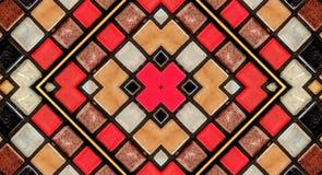 Efecto del espejo sobre las pequeñas tejas foto de archivo libre de regalías