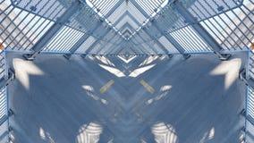 Efecto del espejo sobre un paso superior libre illustration
