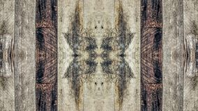 Efecto del espejo sobre un tablero de madera del vintage stock de ilustración