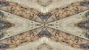 Efecto del espejo sobre un tablero de madera del vintage ilustración del vector