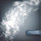 Efecto del humo sobre un fondo transparente del vector Fotografía de archivo