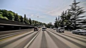 Efecto del lapso del tiempo de conducción de la carretera de Seattle almacen de metraje de vídeo