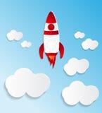 Efecto del papper de Rocket ilustración del vector