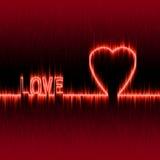 Efecto del pulso del corazón o Imágenes de archivo libres de regalías