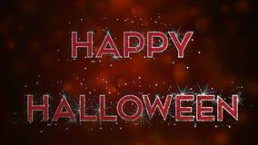 Efecto del texto del feliz Halloween 3D - metal y sangre imagenes de archivo