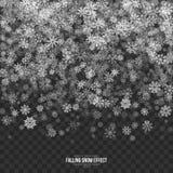 Efecto descendente de la nieve 3D del vector libre illustration