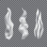 Efecto especial blanco del humo o del vapor del cigarrillo ilustración del vector