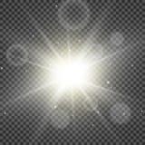 Efecto especial de la llamarada ligera del oro Ilustraci?n ilustración del vector