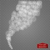 Efecto especial transparente de la niebla o del humo Nubosidad blanca del vector, niebla o fondo de la niebla con humo Foto de archivo