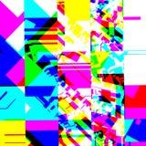Efecto glitching químico abstracto Error al azar de la señal numérica Mosaico colorido del pixel del fondo contemporáneo abstract stock de ilustración