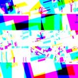Efecto glitching químico abstracto Error al azar de la señal numérica Mosaico colorido del pixel del fondo contemporáneo abstract Fotografía de archivo
