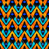 Efecto inconsútil del grunge del modelo del vector del fondo geométrico abstracto psicodélico hermoso Fotografía de archivo