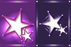 Efecto ligero del marco de la estrella Foto de archivo libre de regalías