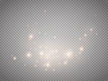 Efecto ligero del vector del resplandor Concepto de destello de la Navidad libre illustration