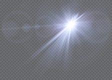 Efecto luminoso de la luz del sol del vector de la llamarada especial transparente de la lente Foto de archivo libre de regalías