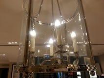 Efecto luminoso de la vela moderna Imagen de archivo libre de regalías