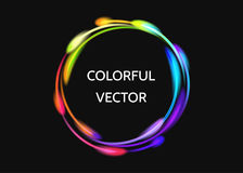 Efecto luminoso de neón colorido del círculo stock de ilustración