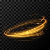 Efecto luminoso del círculo del oro Foto de archivo libre de regalías