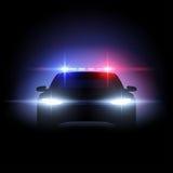 Efecto luminoso del coche policía Imagenes de archivo