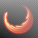 Efecto luminoso del rastro de la estrella con la falta de definición de neón Vector del EPS 10 Imagenes de archivo