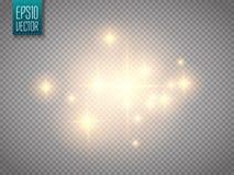 Efecto luminoso del resplandor Concepto del flash de la Navidad del vector ilustración del vector