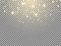 Efecto luminoso del resplandor Concepto del flash de la Navidad del vector stock de ilustración