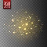 Efecto luminoso del resplandor Concepto del flash de la Navidad del vector libre illustration