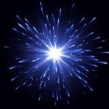 Efecto luminoso del resplandor Explosión de la estrella con las chispas Efecto luminoso transparente Explosión del vector Fotografía de archivo libre de regalías
