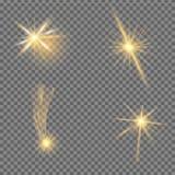 Efecto luminoso del resplandor Explosión de la estrella con las chispas Ilustración del vector Imagen de archivo libre de regalías