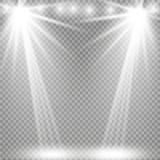 Efecto luminoso del resplandor Explosión de la estrella con las chispas Ilustración del vector Imagen de archivo