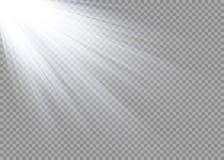 Efecto luminoso del resplandor Explosión de la estrella con las chispas Luz del sol Fotos de archivo libres de regalías