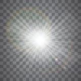 Efecto luminoso del resplandor Explosi?n de la estrella con las chispas Dom Ilustraci?n del vector foto de archivo