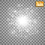 Efecto luminoso del resplandor Ilustración del vector Concepto de destello de la Navidad Fotografía de archivo libre de regalías